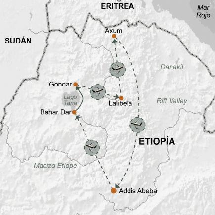 Etiopía. Ruta histórica. Las ciudades del norte. Viajes Tuareg
