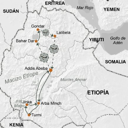 El valle del Omo y la antigua Abisinia