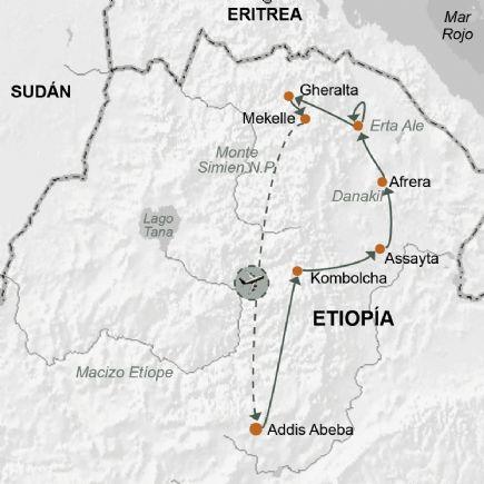 Etiopía. Ruta fotográfica. La depresión del Danakil