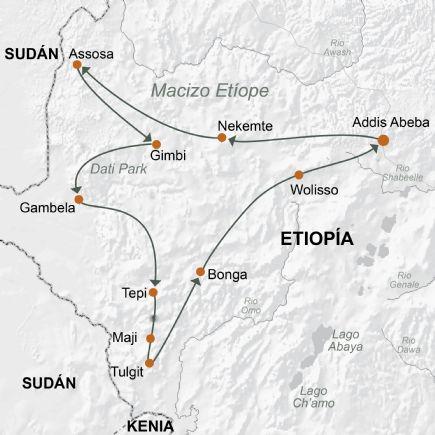 Expedición a Gambela y al país de los Surmas. Viajes Tuareg