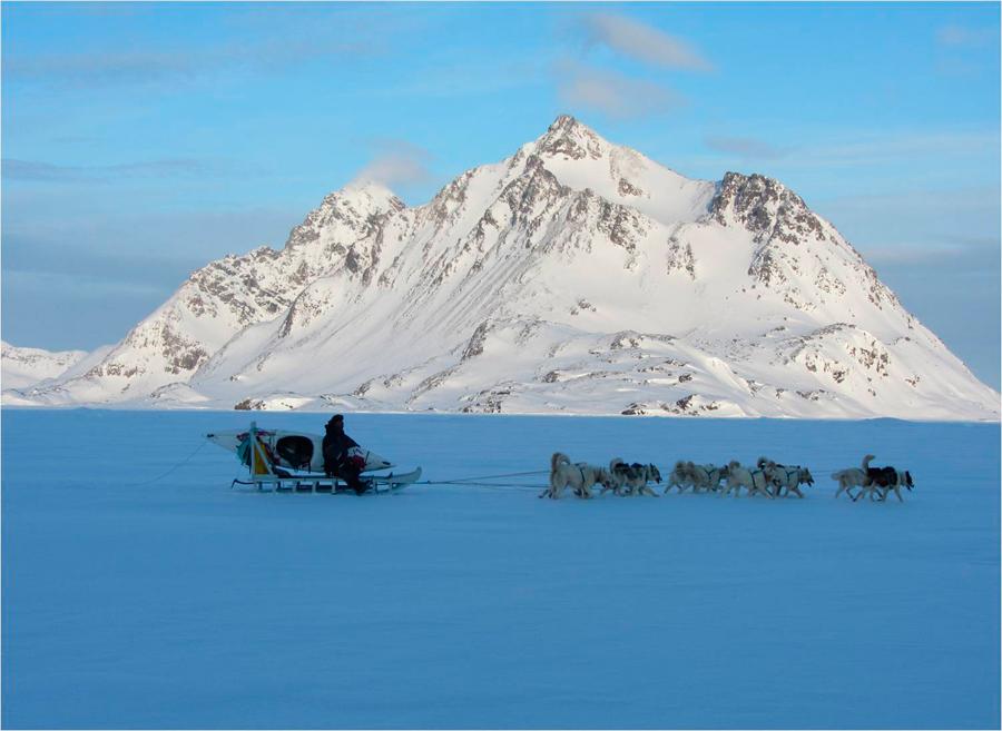 El trineo de perros es un medio de transporte habitual entre los inuit | Foto © Francesc Bailón