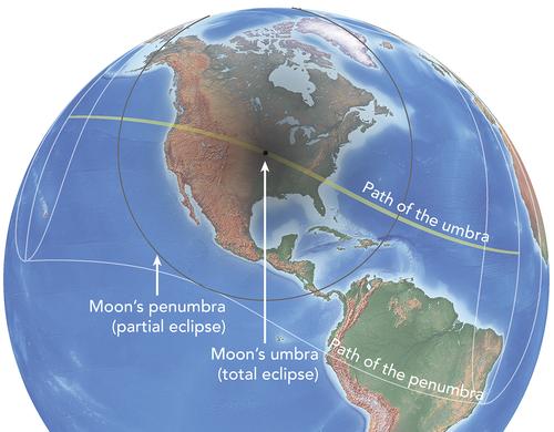 Recorrido eclipse 21 agosto 2017