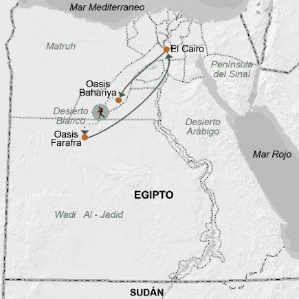 Mapa Del Antiguo Egipto Blanco Y Negro.Egipto Senderismo En El Desierto Blanco