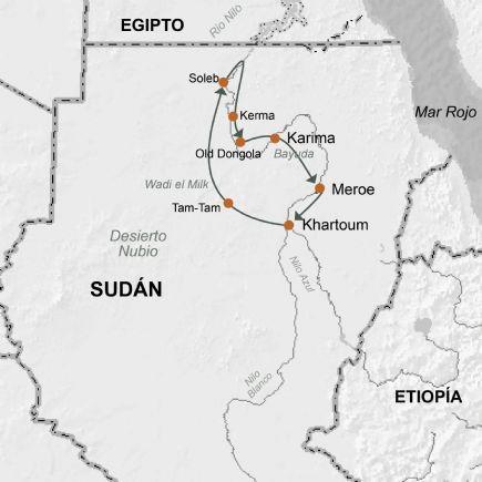 Sudan + Faraones Negros. Región Nubia y el Nilo