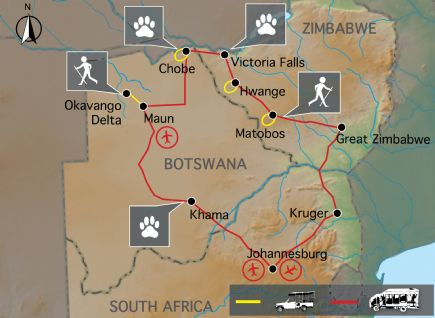 Zimbabwe & Botswana + Game Tracker