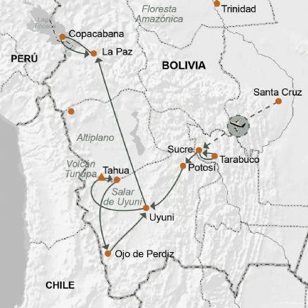 Bolivia Salar De Uyuni Lagunas De Sud Lípez Y Lago Titicaca
