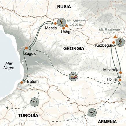 Georgia + Trek de los pueblos medievales, de Mestia a Ushguli