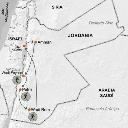 Jordania + Trekking por Jordania, Dana, Petra y Wadi Rum