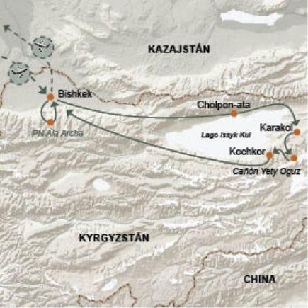 Kirguistán + Trekking - Los senderos del Terskey Ala Too