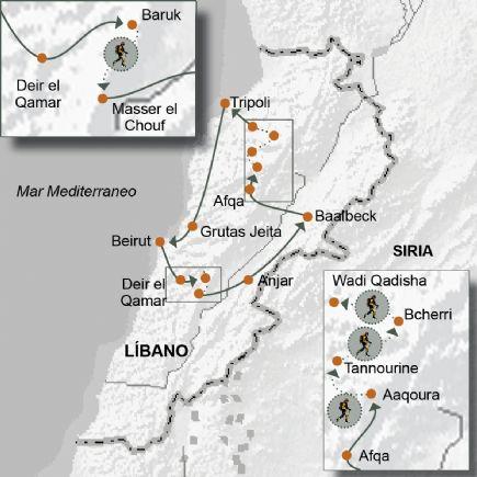Líbano + Trek por las reservas de Cedros El Chouf, Bcherri y Mte.Líbano