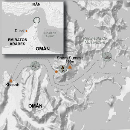 Omán + Navegando en kayak por los fiordos de Omán
