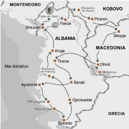 Albania y Macedonia + Los desconocidos valles del norte, la Albania clásica y Macedonia