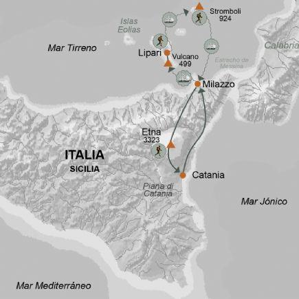 Italia + Senderismo en los volcanes de Sicilia e Islas Eolias