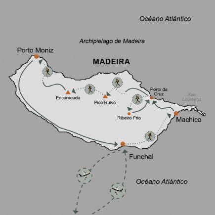 Madeira + Travesía de la isla: Trekking de Porto da Cruz a Porto Moniz