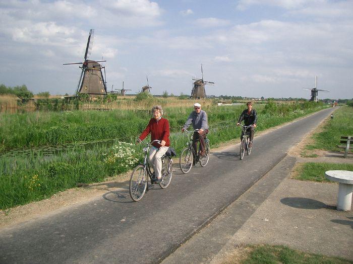 fotos del viaje a Holanda Especial familias navegando y en bici autor:Cyclotours.nl