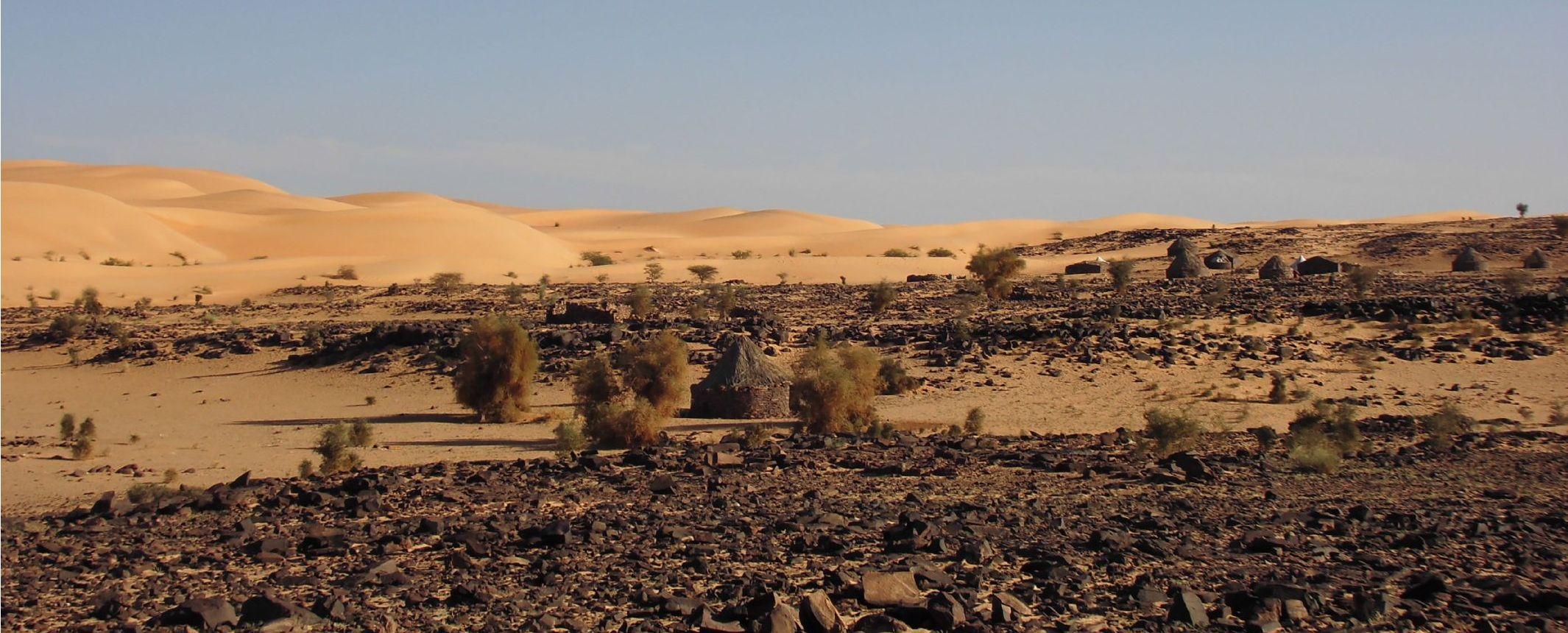 Mauritania - Panorama del Adrar en 4x4