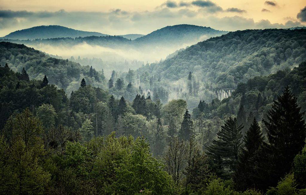 Amanecer en Plitvice   Foto © Iñaki Landa