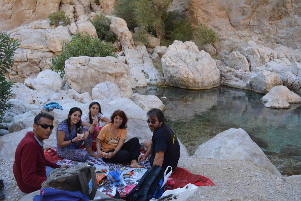 Viaje a Omán. Autor Pedro Jornet. Fotografía Pick Nick en el Wadi