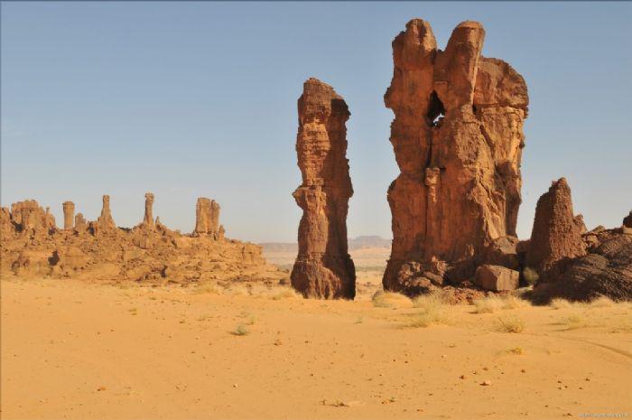 Fromaciones rocosas en el Ennedi