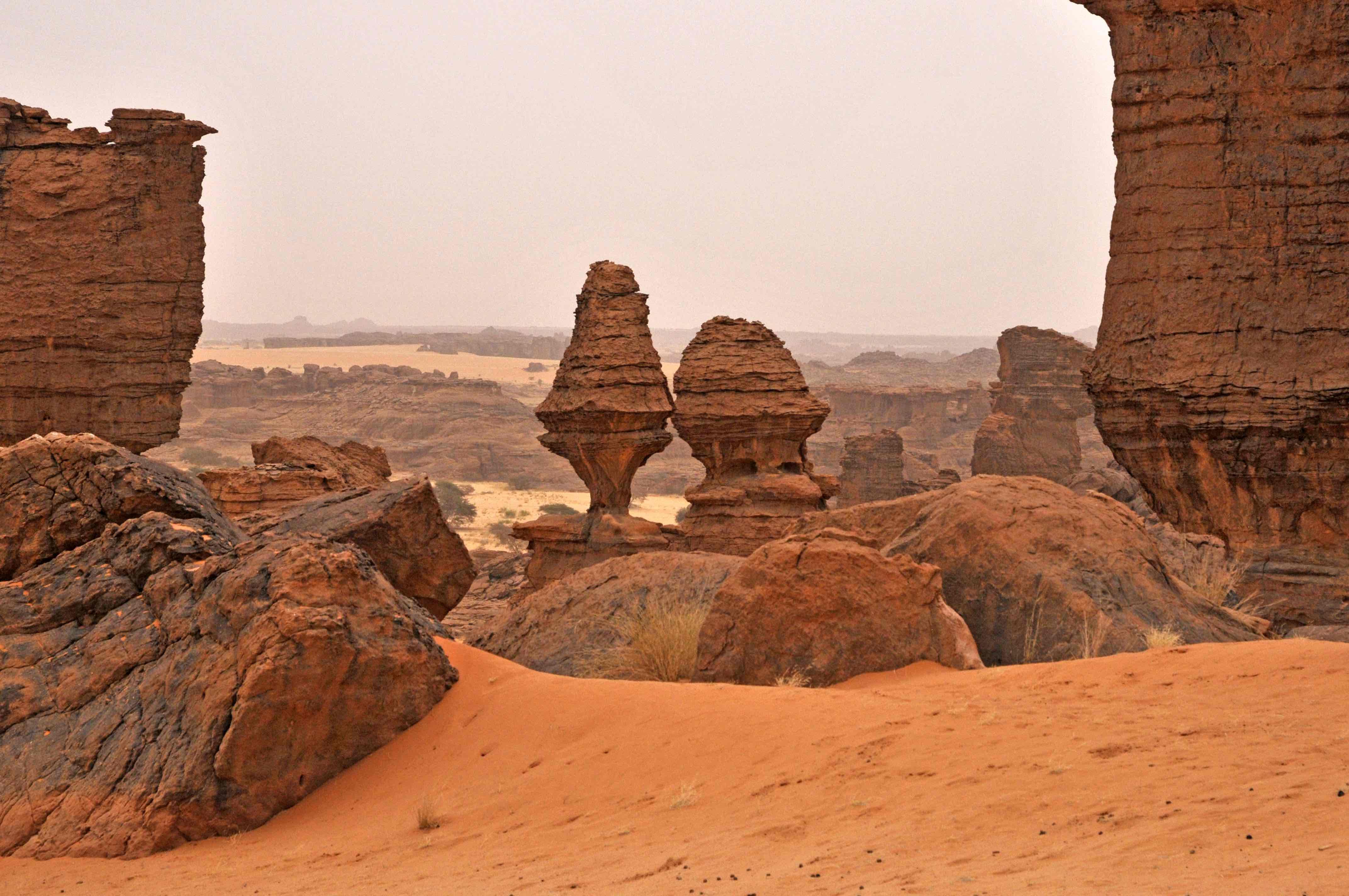 Formaciones rocosas en el Ennedi. VIaje al Chad
