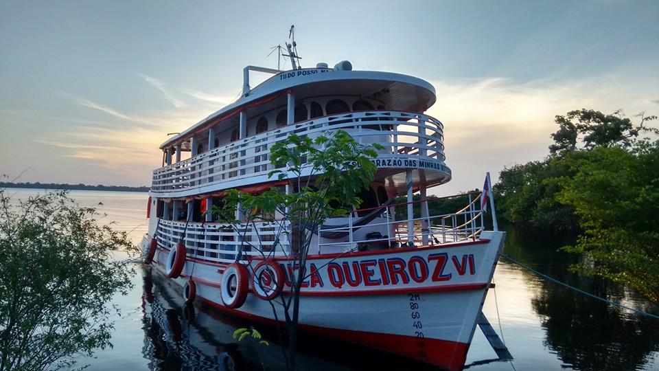 Souza Queiroz, una de las embarcaciones habilitadas para viajar por el Amazonas