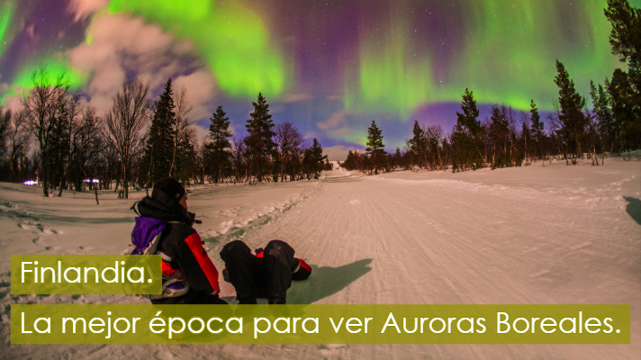 Mejor epoca Auroras Boreales Finlandia