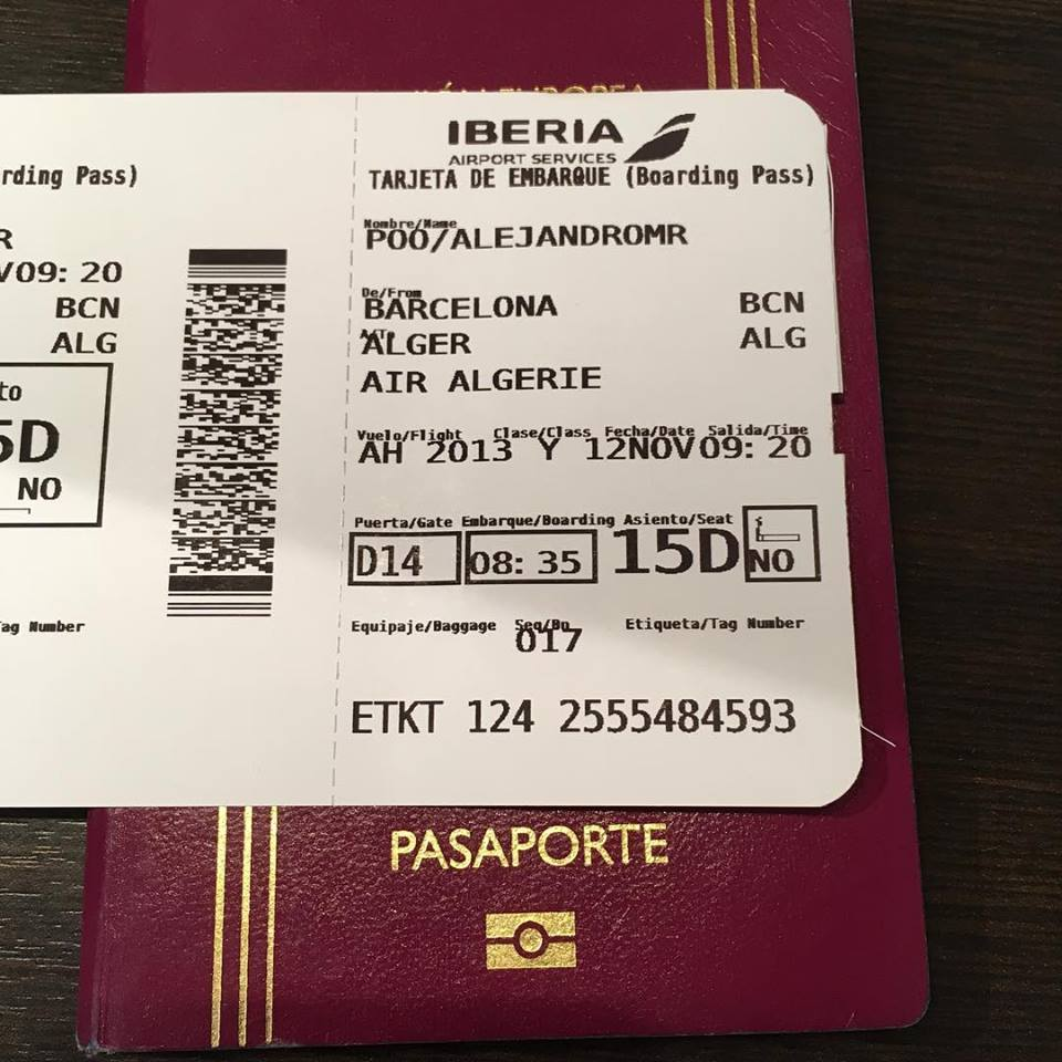 Vuelo directo Barcelona/Madrid - Argel
