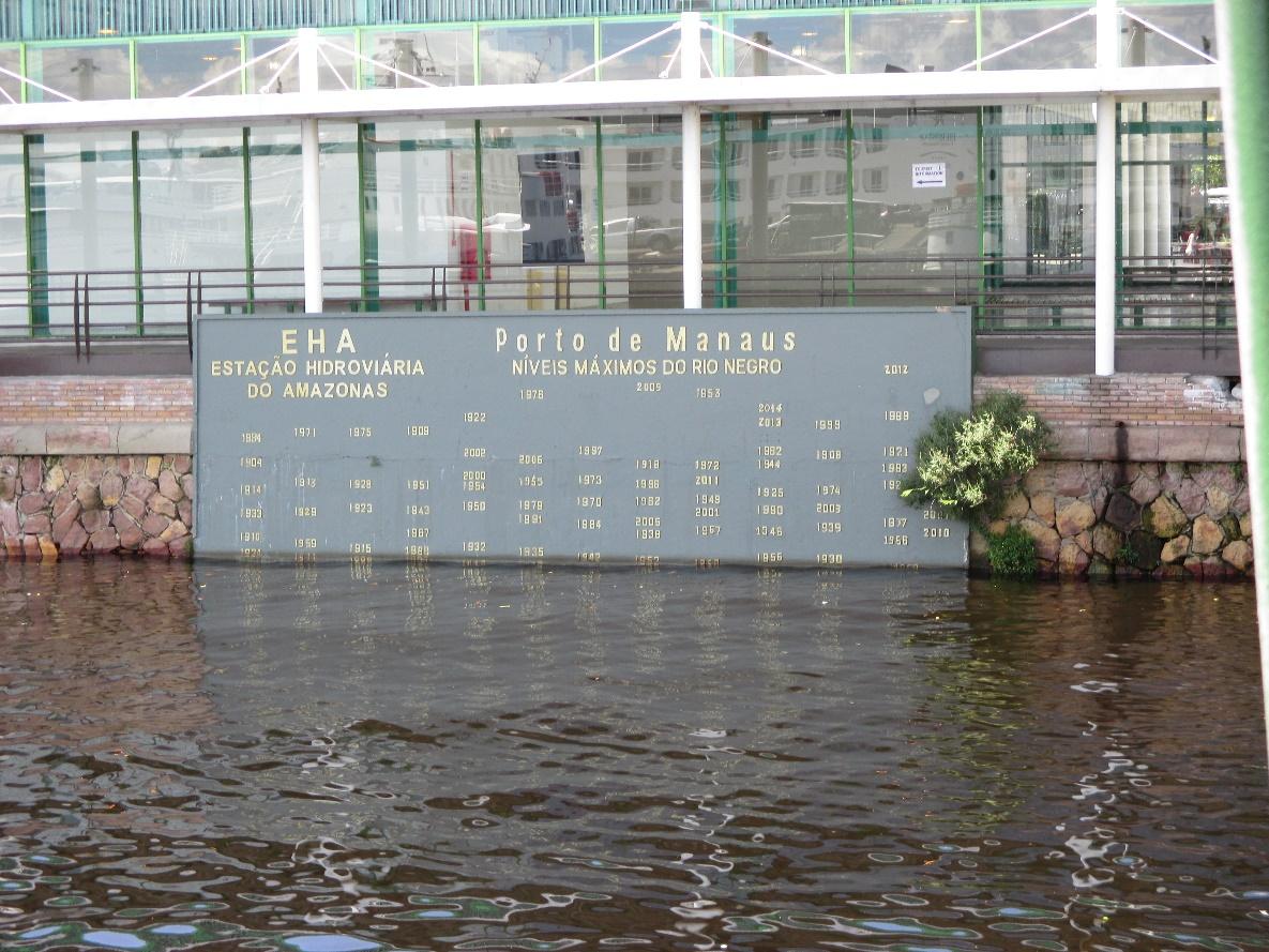 Nivel de las aguas en el puerto de Manaus