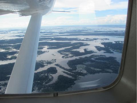 Vista aérea del río Amazonas. Autor Kike Marsà.