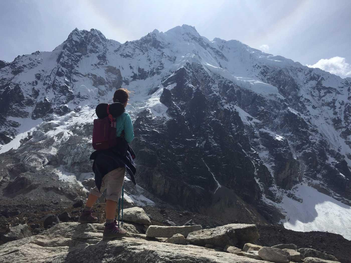 Foto de Iuliana Trifu efectuada en el viaje a Perú