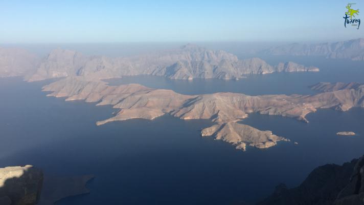Vistas de los fiordos de Omán